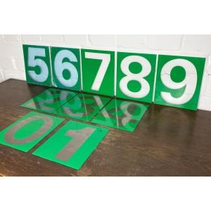 Original USA Schild - Tankstellen Nummern Set