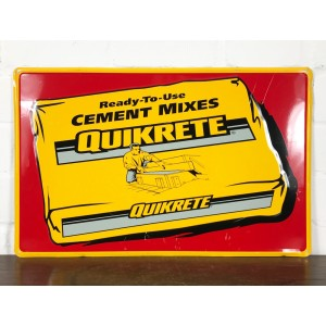 Original USA Schild - Quikrete Cement Mixes Blechschild