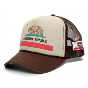 Retro Cap - California Flag Trucker Cap