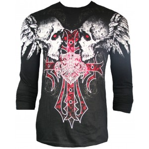 Xzavier - Screaming Skulls Longsleeve T-Shirt Front