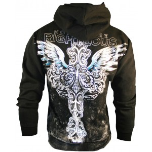 Xzavier Righteous Cross Zipper Hoodie Back