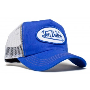 Von Dutch - Classic Royal/White Mesh Trucker Cap