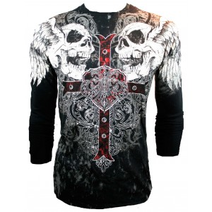 Xzavier - Screaming Skulls Longsleeve T-Shirt