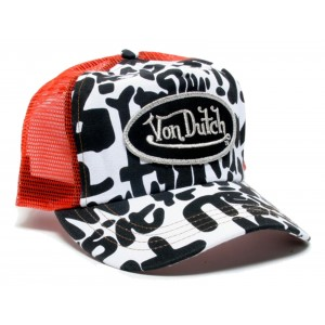 Von Dutch - Graffiti Mesh Trucker Cap Front