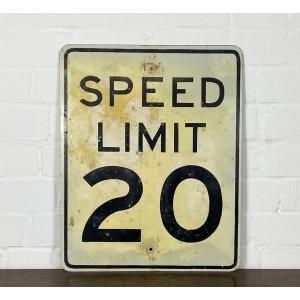 Original USA Schild - XL Speed Limit 20 Verkehrsschild