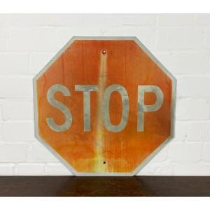 Original USA Schild - XL Stop Verkehrsschild