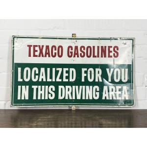 Texaco Gasolines Schild