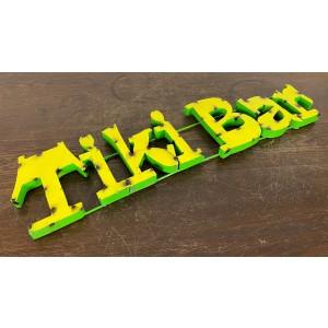 Tiki Bar Size L 3D Schriftzug