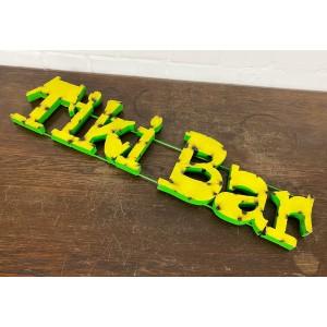 Tiki Bar Size XL 3D Schriftzug