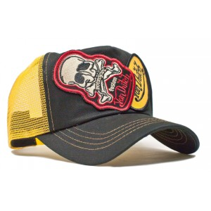 Von Dutch - 2 Patch Skull Mesh Trucker Cap