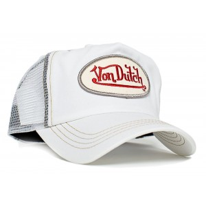 Von Dutch - Classic White/White Mesh Trucker Cap