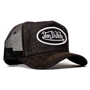 Von Dutch Denim Mesh Trucker Cap