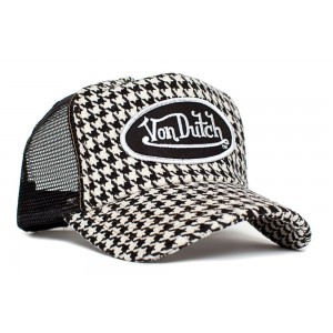 Von Dutch - Houndstooth Mesh Trucker Cap
