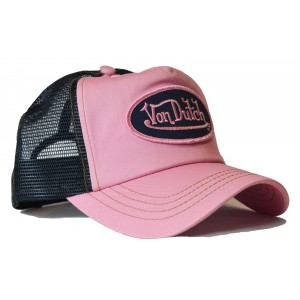 Von Dutch - Classic Rosa/Black Mesh Trucker Cap