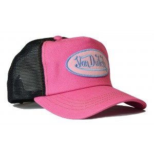 Von Dutch - Classic Pink/Black Mesh Trucker Cap