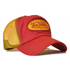 Von Dutch - Classic Red/Yellow Mesh Trucker Cap