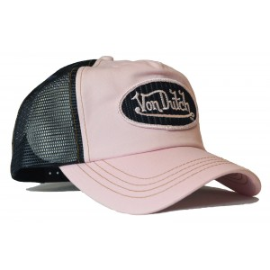 Von Dutch - Classic Rosa/Black II Mesh Trucker Cap