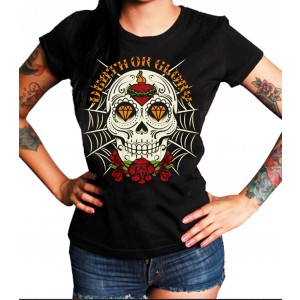 La Marca Del Diablo - Death or Glory Skull T-Shirt Front