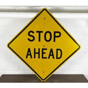 XXL Stop Ahead Verkehrsschild