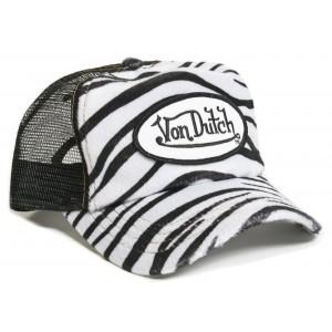 Von Dutch - Zebra Mesh Trucker Cap Front