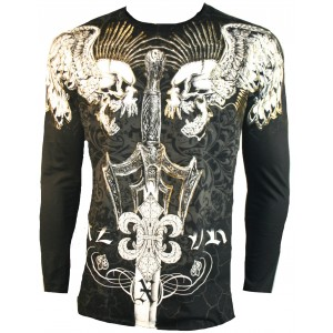 Xzavier - Screaming Punk Skulls Longsleeve T-Shirt Front