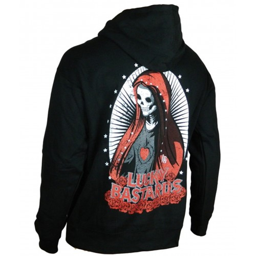 Lucky Bastards - Deliver Us from Evil Zipper Hoodie Back