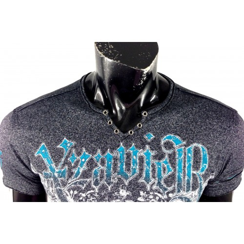 Xzavier - LIMITED COLLECTION Distressed Motif T-Shirt Detail
