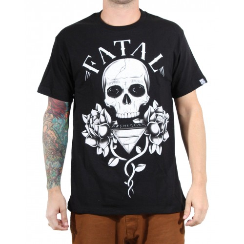 Fatal Clothing - Lotus Skull T-Shirt Front