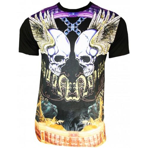 Xzavier - Flying Skulls T-Shirt Front