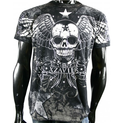 Xzavier - Star Gazer Skull T-Shirt Front
