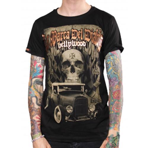 La Marca Del Diablo - Hellywood Skull T-Shirt Front