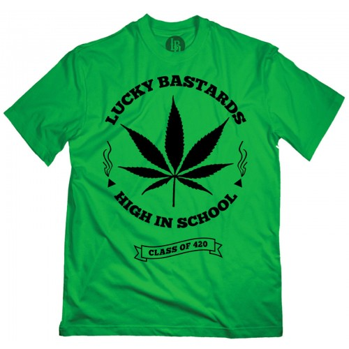 Lucky Bastards - High in Class T-Shirt Front