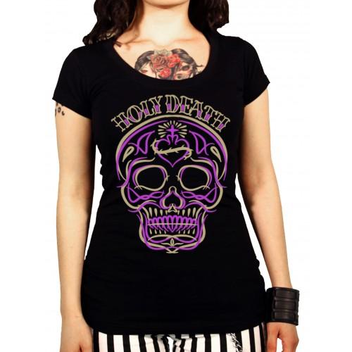 La Marca Del Diablo - Holy Death Pinstipe T-Shirt Front