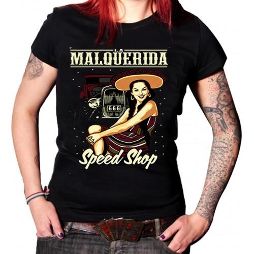 La Marca Del Diablo - La Malquerida Speed Shop T-Shirt Front