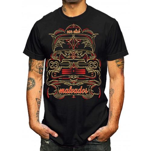La Marca Del Diablo - Malvados Pinstripe T-Shirt Front