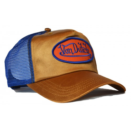 Von Dutch - Metallic Gold/Blue Trucker Cap