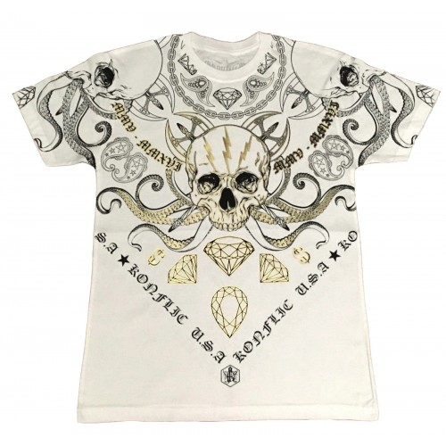 Konflic Clothing - Octopus Skull T-Shirt
