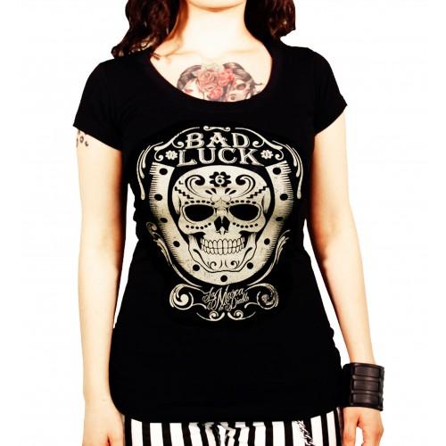 La Marca Del Diablo - Bad Luck Skull T-Shirt Front