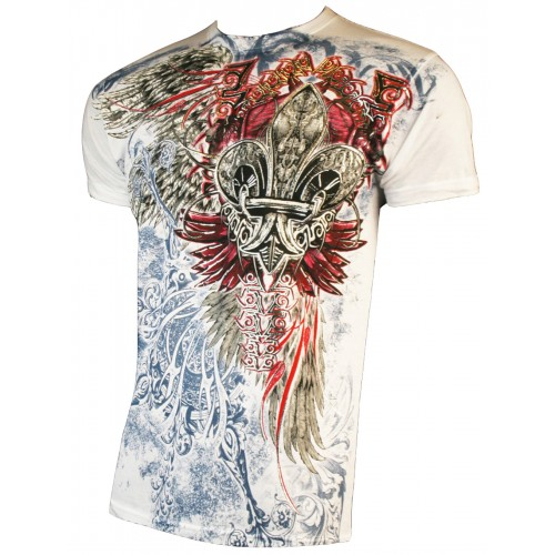 Konflic Clothing - Red Drawn T-Shirt Front