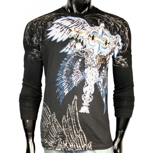Xzavier - Royal Cross Longsleeve T-Shirt Front