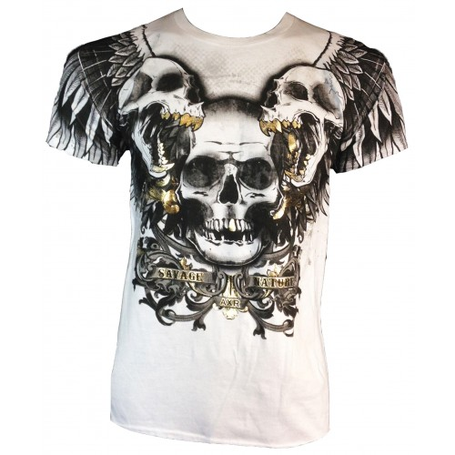 Xzavier - Savage by Nature Skulls T-Shirt Front