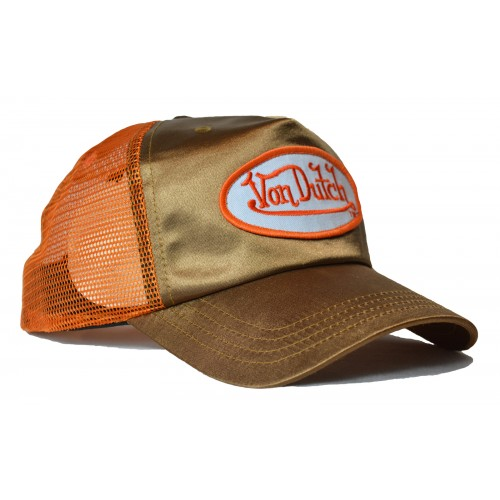 Von Dutch - Metallic Gold/Orange Trucker Cap