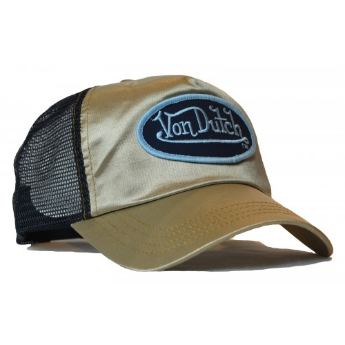 Von Dutch - Satin Gold/Black Mesh Trucker Cap