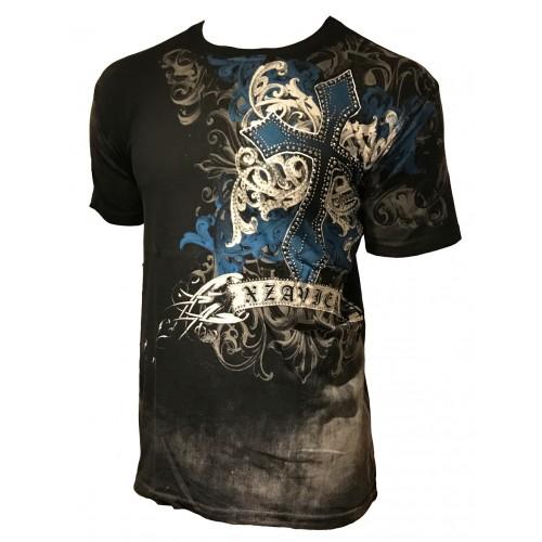 Xzavier - Fearless Cyanic Rhinestones/Strass T-Shirt